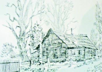 Домик, в котором жил Довлатов. Пушкинские горы.