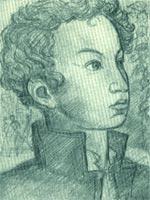 Пушкин-лицеист. Рисунок В.Фаворского. 1935.